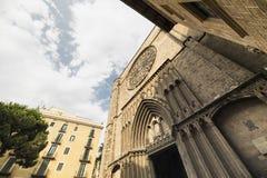 Barcelona (Spain): Santa Maria del Pi, gothic church. Barcelona (Catalunya, Spain): facade of Santa Maria del Pi, gothic church Stock Photography