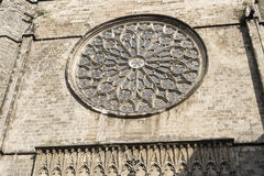 Barcelona Spain: Santa Maria del Pi, gothic church. Barcelona Catalunya, Spain: facade of Santa Maria del Pi, gothic church Royalty Free Stock Images