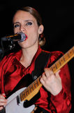 Anna Calvi band performs at KGB Stock Image