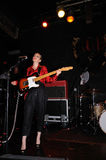 Anna Calvi band performs at KGB Royalty Free Stock Image