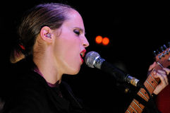 Anna Calvi band performs at KGB Stock Photo