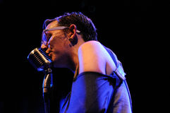 Micah P. Hinson band performs Trompe le Monde record by Pixies at Apolo Royalty Free Stock Photography