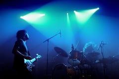 Midnight Juggernauts band performs at discotheque Razzmatazz Stock Photo