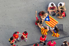 BARCELONA, SPAIN - SEPT. 11: People manifesting ingependence on Stock Photography