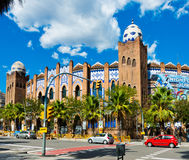 Barcelona bullring La Monumental byzantine and mudejar moorish s Royalty Free Stock Images