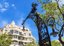 BARCELONA, SPAIN - SEPTEMBER 15: A beautiful street light Royalty Free Stock Images