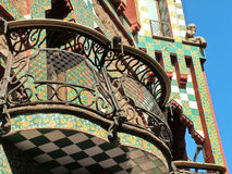 Barcelona, Spain, September 28, 2015-Casa Vicens Gaudi architect Royalty Free Stock Photography