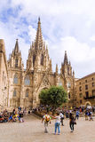 BARCELONA, SPAIN - SEPTEMBER 15: Cathedral of the Holy Cross and Royalty Free Stock Photo