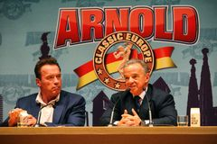 Arnold Schwarzenegger in Barcelona Royalty Free Stock Image