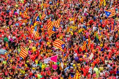 Catalan independence movement on national day Stock Photography