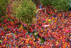 Catalan independence movement on national day Stock Images
