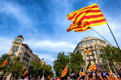 Catalan independence movement on national day Royalty Free Stock Image