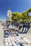 BARCELONA, SPAIN - SEPTEMBER 17, 2015: illegal street dealers se stock image