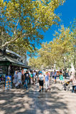 La Rambla on September 14, 2012 in Barcelona, Spain. Stock Photography