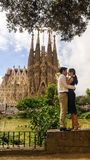 BARCELONA, SPAIN , SEPTEMBER-15: the most known building created Royalty Free Stock Images