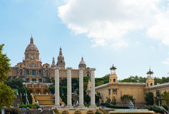 National Palau of Montjuic in September, 2012 in Barcelona, Spai Royalty Free Stock Images