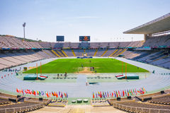 Barcelona, Spain - September 11, 2016: Olympic stadium in Barcelona Royalty Free Stock Photos