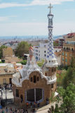 Barcelona, Spain - 24 September 2016: Park Guell Gaudi Laie building. Royalty Free Stock Image