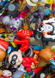 Barcelona, Spain - September 26, 2010 : a pile of used dolls at Stock Photos