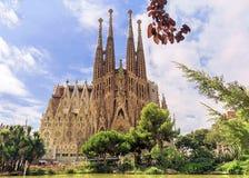 BARCELONA, SPAIN - SEPTEMBER 15: Sagrada Familia of 2015 in Barc stock photo