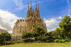 BARCELONA, SPAIN - SEPTEMBER 15: Sagrada Familia of 2015 in Barcelona Royalty Free Stock Image