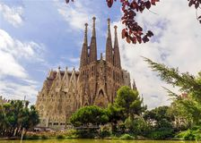 BARCELONA, SPAIN - SEPTEMBER 15: Sagrada Familia Stock Images