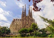 BARCELONA, SPAIN - SEPTEMBER 15: Sagrada Familia Stock Images