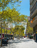 Street of Barcelona on September 13, 2012 Royalty Free Stock Images