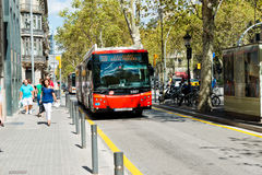 Street of Barcelona on September 13, 2012 Royalty Free Stock Photography