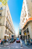 Street of Barcelona on September 14, 2012 Royalty Free Stock Photos
