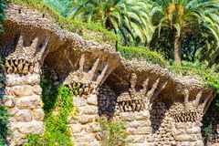 Birds nests at Park Guell in Barcelona Royalty Free Stock Images