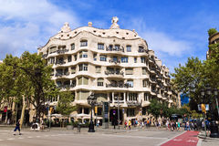 BARCELONA, SPAIN - SEPTEMBER 15: the world famous House Casa Mila Stock Photos