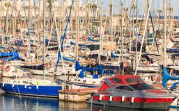 Yachts in the port. Royalty Free Stock Photos