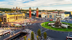 Barcelona, Spain. Spanish Square aerial view during the day Royalty Free Stock Photography