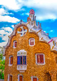In Barcelona in Spain. Strange houses located at the famous park Guell at Barcelona in Spain. HDR processed Royalty Free Stock Image