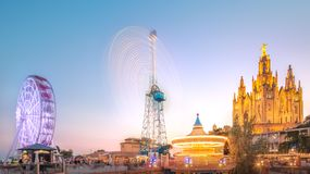 BARCELONA, SPAIN, Temple at Tibidabo Stock Photography