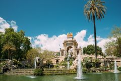 Barcelona, Spain. View Of Citadel Park In Sunny Day.  stock images