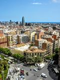 Barcelona Spain - View From La Sagrada Familia Royalty Free Stock Image