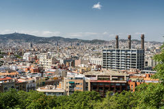 Barcelona Spain: view from Montjuic Royalty Free Stock Image