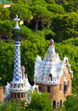 Barcelona, Spain. Views from the Parc Guell designed by Antoni Gaudi, Barcelona, Spain Royalty Free Stock Photography