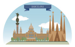 Barcelona. ??Spain. For you design Royalty Free Stock Photo