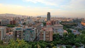 barcelona Spain zmierzchu widok Fotografia Royalty Free