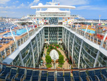 Barcelona, Spaine - September 06, 2015: Royal Caribbean, Allure. Of the Seas sailing from Barselona on September 6 2015. The second largest passenger ship Stock Photography