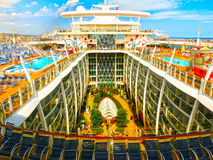 Barcelona, Spaine - September 06, 2015: Royal Caribbean, Allure of the Seas. Sailing from Barselona on September 6 2015. The second largest passenger ship Royalty Free Stock Photos