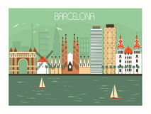 Barcelona Spanien vektor abbildung