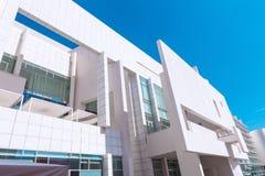 Barcelona Spanien - April 18, 2016: MACBA Museo De Arte Contemporaneo, museum av samtida konst Arkivbilder
