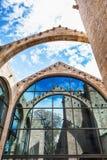 Barcelona Spanien - April 17, 2016: Maritimt havsmuseum royaltyfri foto