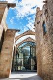 Barcelona Spanien - April 17, 2016: Maritimt havsmuseum arkivfoton