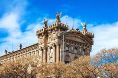 Barcelona Spanien - April 17, 2016: Maritimt havsmuseum av Barcelona arkivbilder