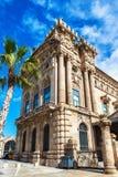 Barcelona Spanien - April 17, 2016: Maritimt havsmuseum av Barcelona royaltyfria bilder